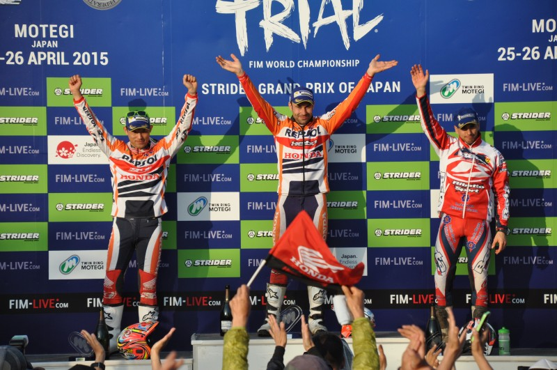 Double for Repsol Honda Team in Japan: Toni Bou repeats Motegi win with Fujinami second