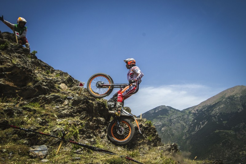 Second place for Bou on the first day of the GP Trial of Andorra