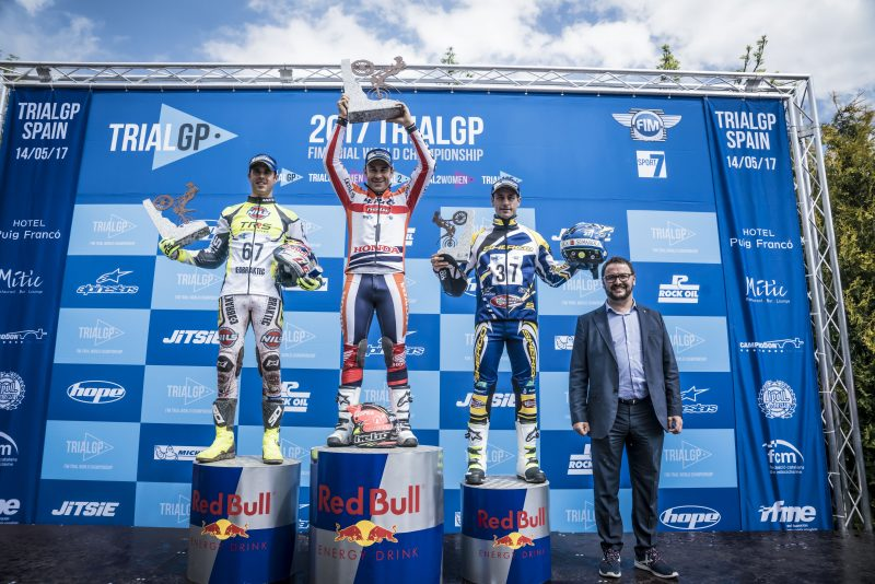 Toni Bou claims victory in a highly-complicated Spanish TrialGP