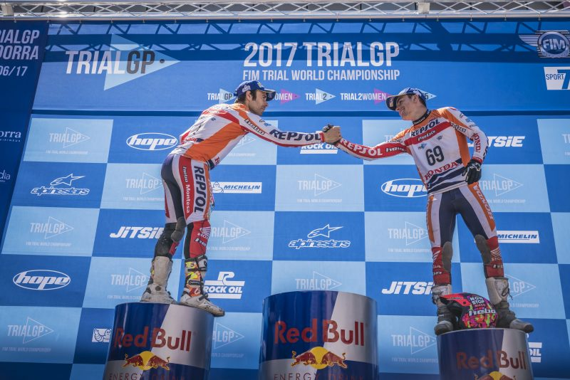 Jaime Busto gets his first podium place in the TrialGP World Championship