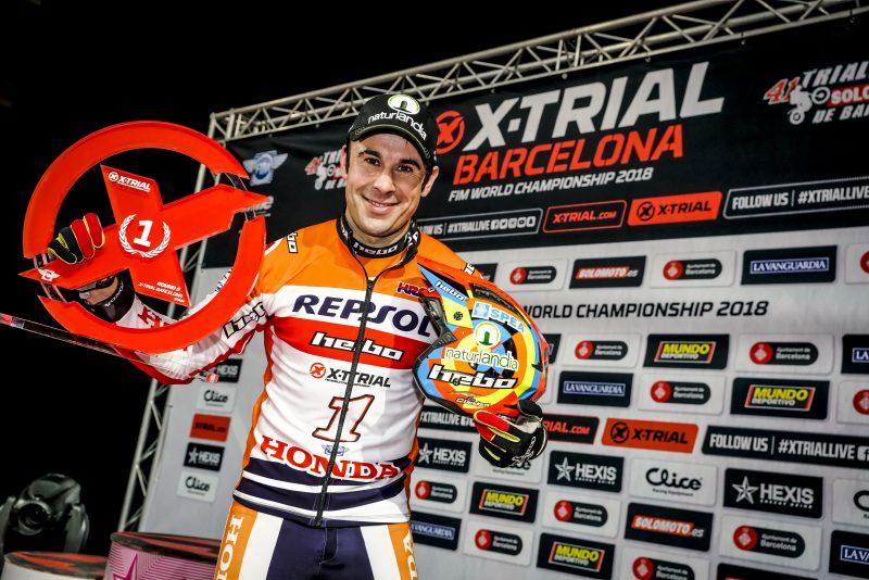Toni Bou triunfa en Barcelona y consigue la quinta victoria consecutiva en X-Trial
