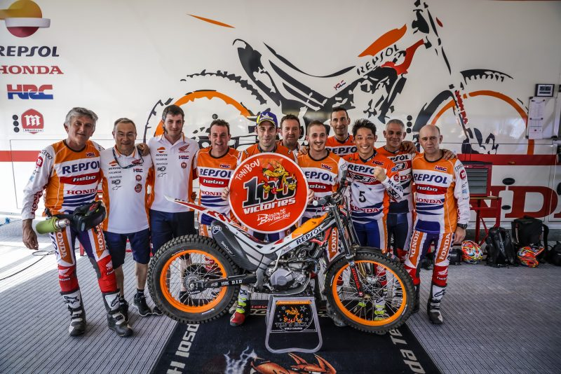 Toni Bou breaks a new record: 100 victories in the world trial championships