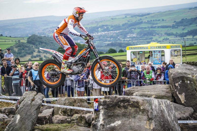 Toni Bou, fastest in qualifying at TrialGP Great Britain
