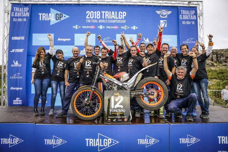 Toni Bou makes history once more. Twelfth TrialGP title for the Repsol Honda Team rider