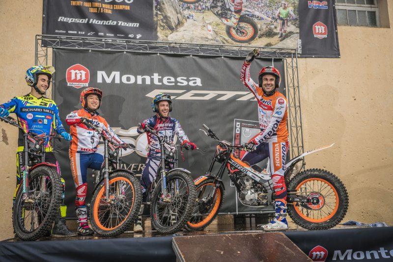 Toni Bou y Takahisa Fujinami celebran la temporada en la Montesada 2018