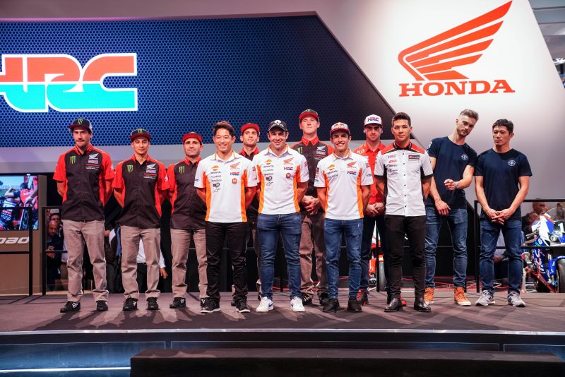 Trial Repsol Honda Team make their official presentation for 2019 at EICMA in Milan