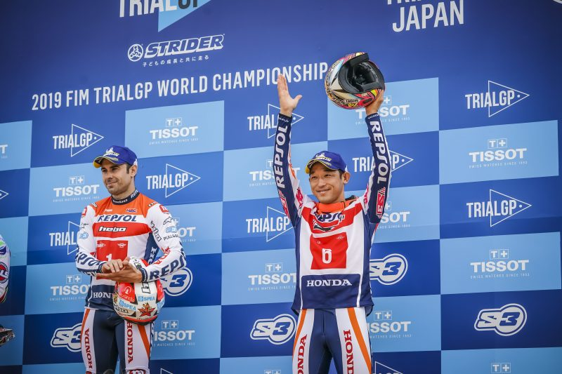Double podium for Repsol Honda Team on day one of the Japanese TrialGP