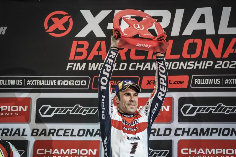 No unlucky 13 as Toni Bou makes it 4 out of 4 in the X-Trial World Championship in Barcelona.