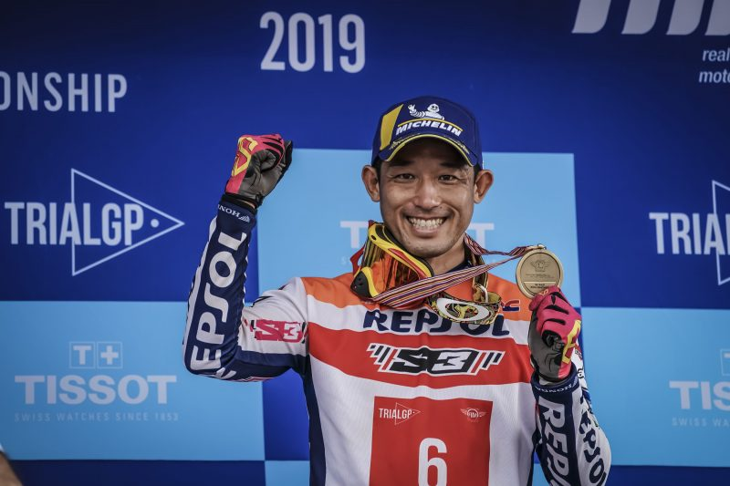 Takahisa Fujinami, ready for a 25th season in the Trial World Championship