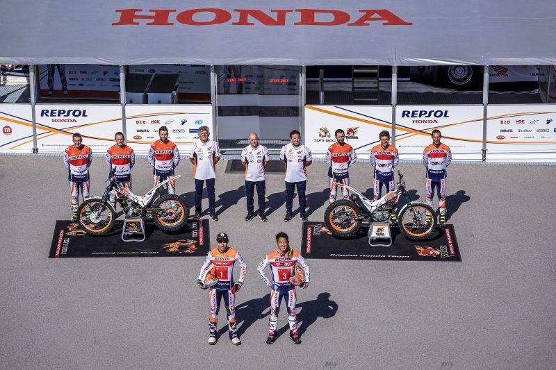Toni Bou y Takahisa Fujinami juntos en el Repsol Honda Team por décimo quinta temporada