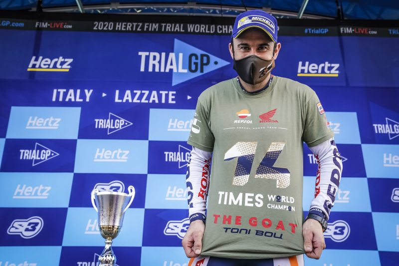 Toni Bou clinches earlier than expected a 28th world championship title at the Italian TrialGP