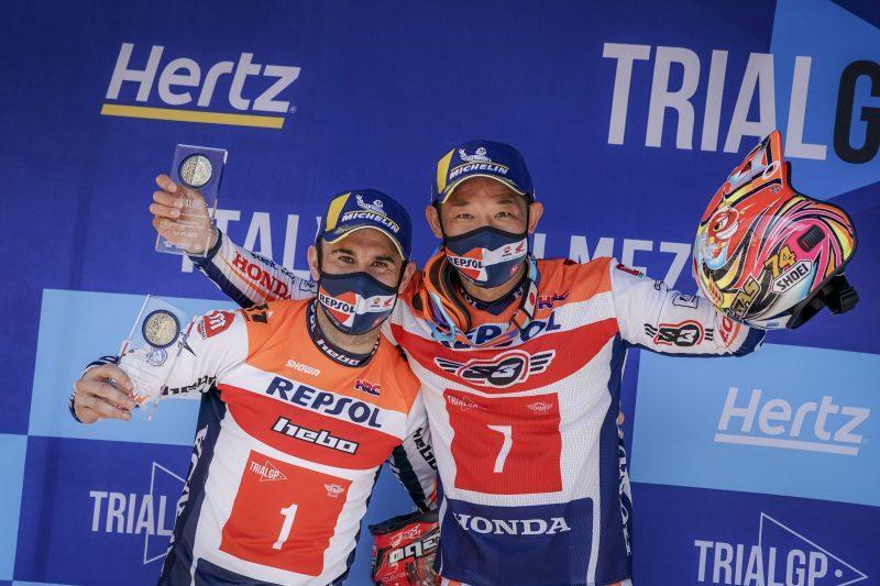 Doblete del Repsol Honda Team de Trial en Italia. Fujinami, victorioso, con 41 años